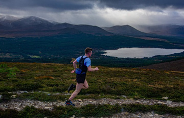 Clyde confirming Cosmic Championship at Meall a'Bhuachaille